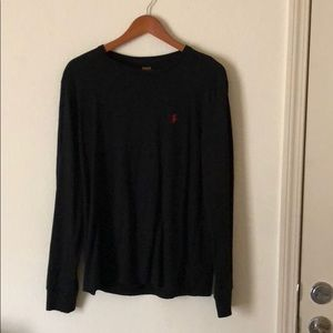 Black Polo long-sleeve Tee